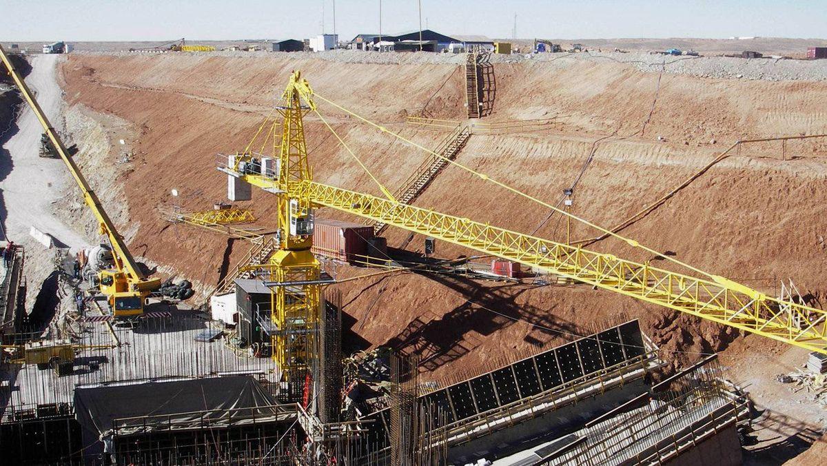 File photo of the Oyu Tolgoi mine in the South Gobi desert in Mongolia.