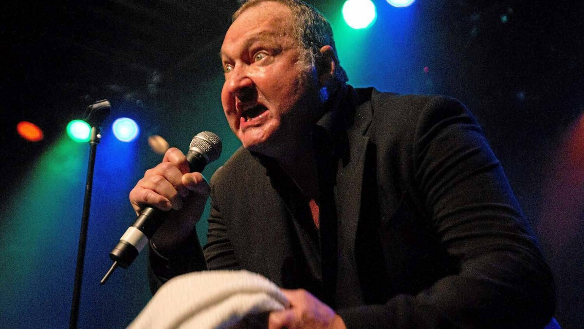 """Randy Quaid performs his song """"Star Whackers"""" at the Commodore Ballroom in Vancouver on March 18."""