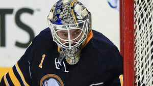 The Buffalo Sabres and goalie Jhonas Enroth take on the Toronto Maple Leafs in Monday's must see game. Kevin Hoffman-US PRESSWIRE