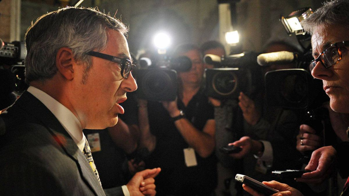 Treasury Board President Tony Clement, shown in the foyer of the House of Commons on Sept. 19, 2011, has been tasked with reducing spending accross all government departments.