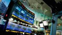 The Toronto Stock Exchange Broadcast Centre in Toronto.