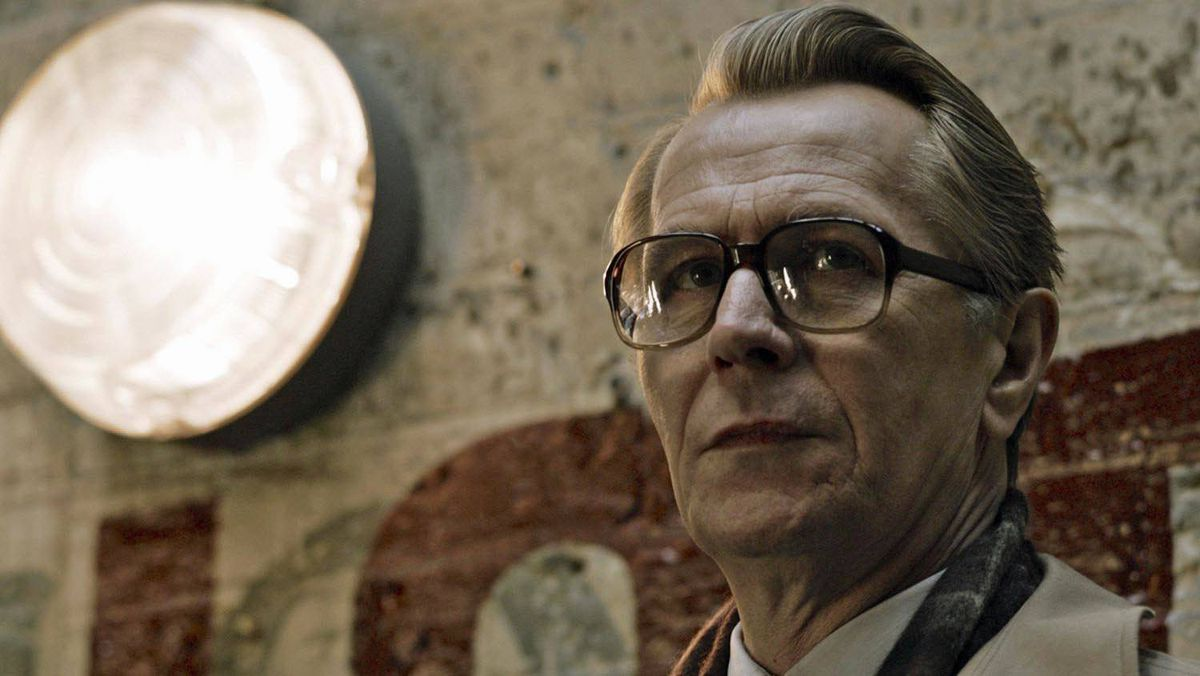 Gary Oldman as George Smiley in Tinker, Tailor, Soldier, Spy (2011).
