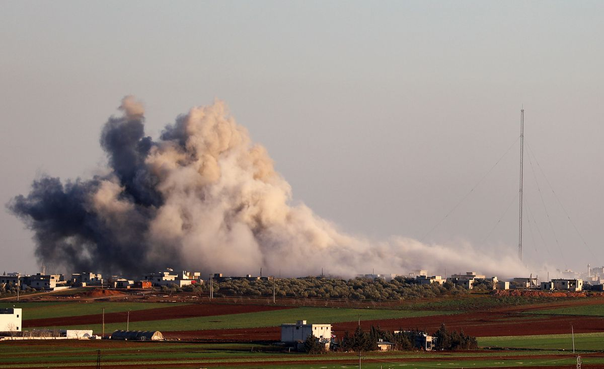 Syrian government forces hit civilian sites in relentless Idlib military campaign