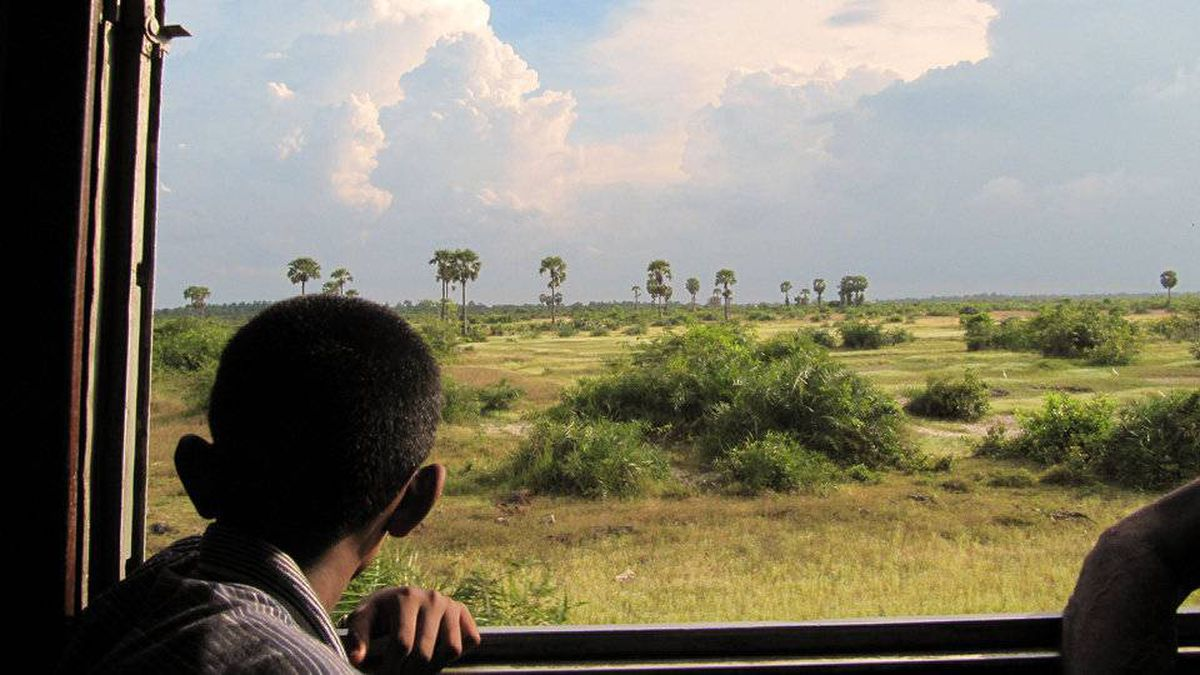 From Devin Morrow, Winnipeg, MB (currently studying in Toronto) This photo was taken on the train between Polunnarawa and Batticaloa, in eastern Sri Lanka. The little boy sharing our compartment with his grandfather was hoping to spot an elephant and spent much of the ride leaning through the window.