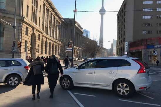 Drivers blocking crosswalks can be subject to fines – not to mention pedestrians' dirty looks
