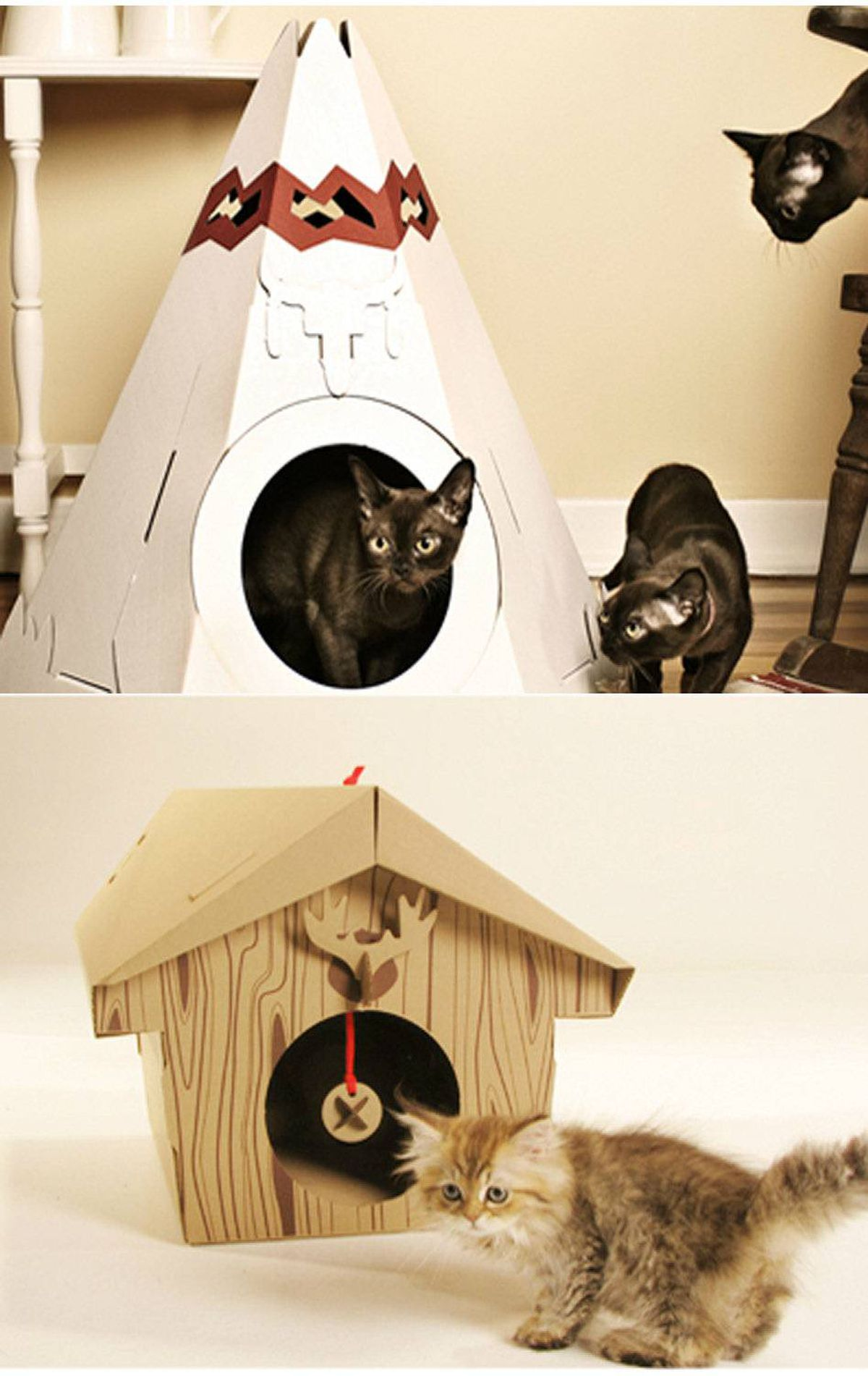 Ever give your cat a cardboard box? Never has the adage 'one man's trash is another's treasure' been so true. Step it up for Fluffy this year: ditch the box and give him what he really wants: a piece of iconic Canadiana in the form of cottages and Native-American teepee houses from Montreal's Loyal Luxe. It might be hours - maybe days - before he emerges. But it's adorable and worth every second. $24 each, loyalluxe.com