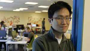 Allen Lau CEO and co-founder Wattpad, a new form of collaborative entertainment that connects readers and writers across storytelling photographed at his offices on Yonge St., Toronto April 18, 2012.