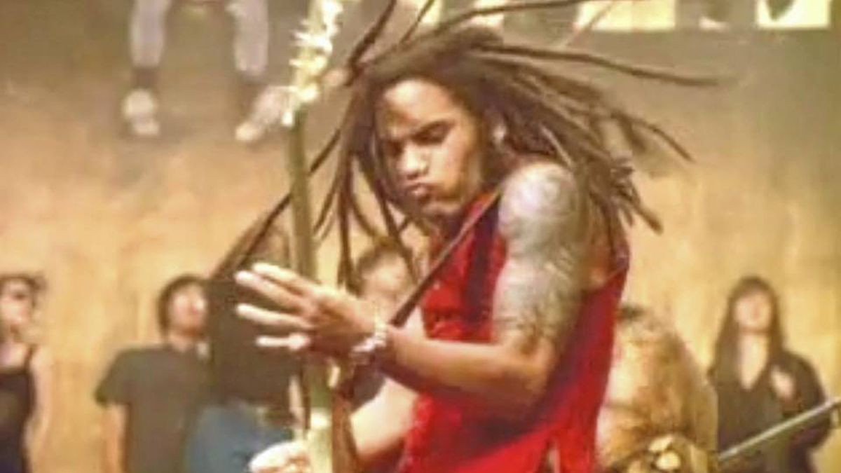 A screen grab from Are You Gonna Go My Way? by Lenny Kravitz.
