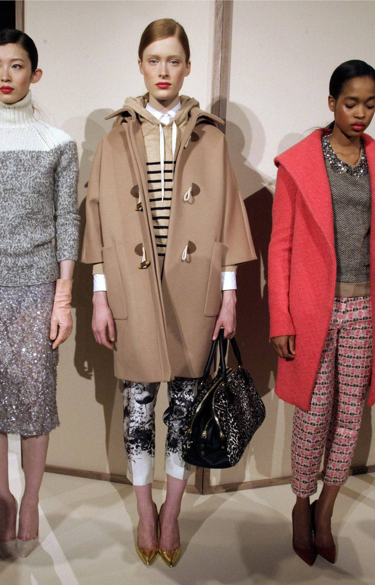 """This advanced style of unexpected mixing is genuine Jenna, as in J.Crew's president and executive creative director, Jenna Lyons. It's that """"Oh, I just picked up these pieces that were scattered around my bedroom and now I look fabulous"""" look."""