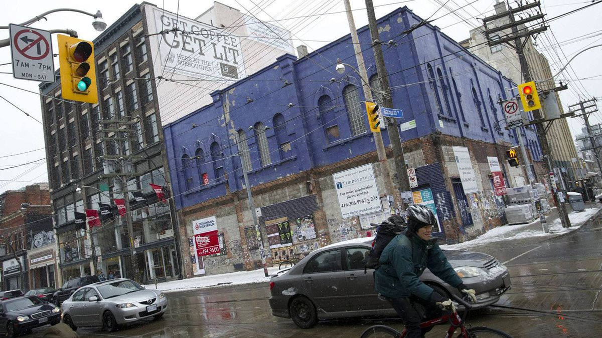 The former home of the Big Bop night club at the South East corner of Queen and Bathurst Street is photographed in Toronto, Ont. February 25, 2011.