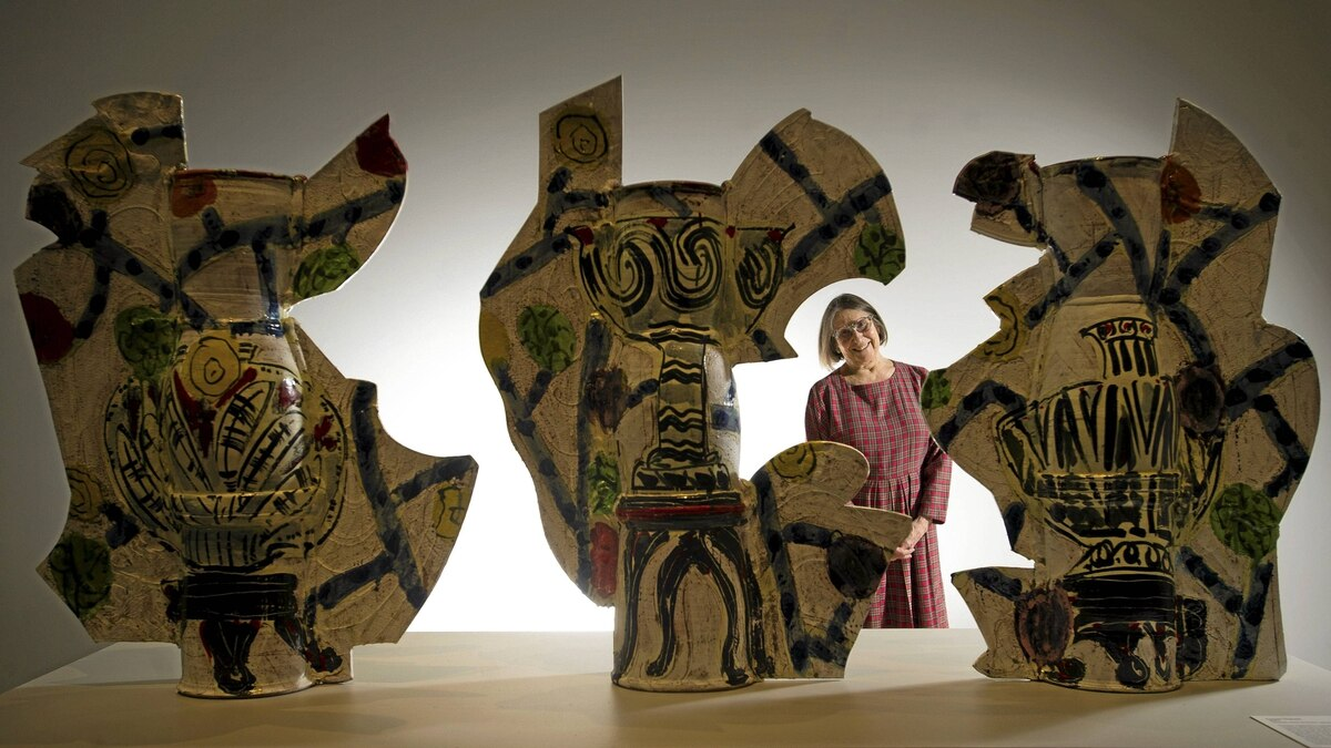 """""""Usually my work has some historic connection,"""" Betty Woodman observes at her Toronto exhibition."""
