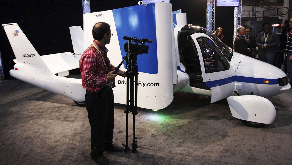 Terrafugia's flying car, the Transition.