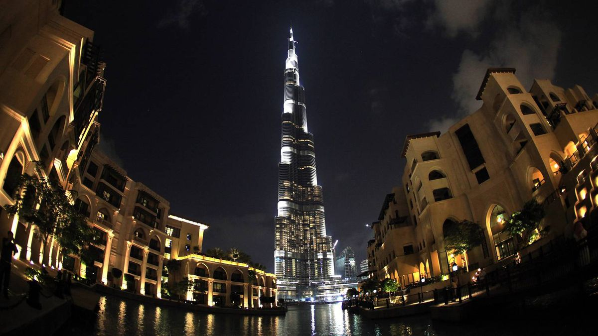 A general view of the Burj Dubai, the world's tallest building