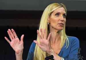 American conservative pundit Ann Coulter speaks in Calgary on March 25, 2010.