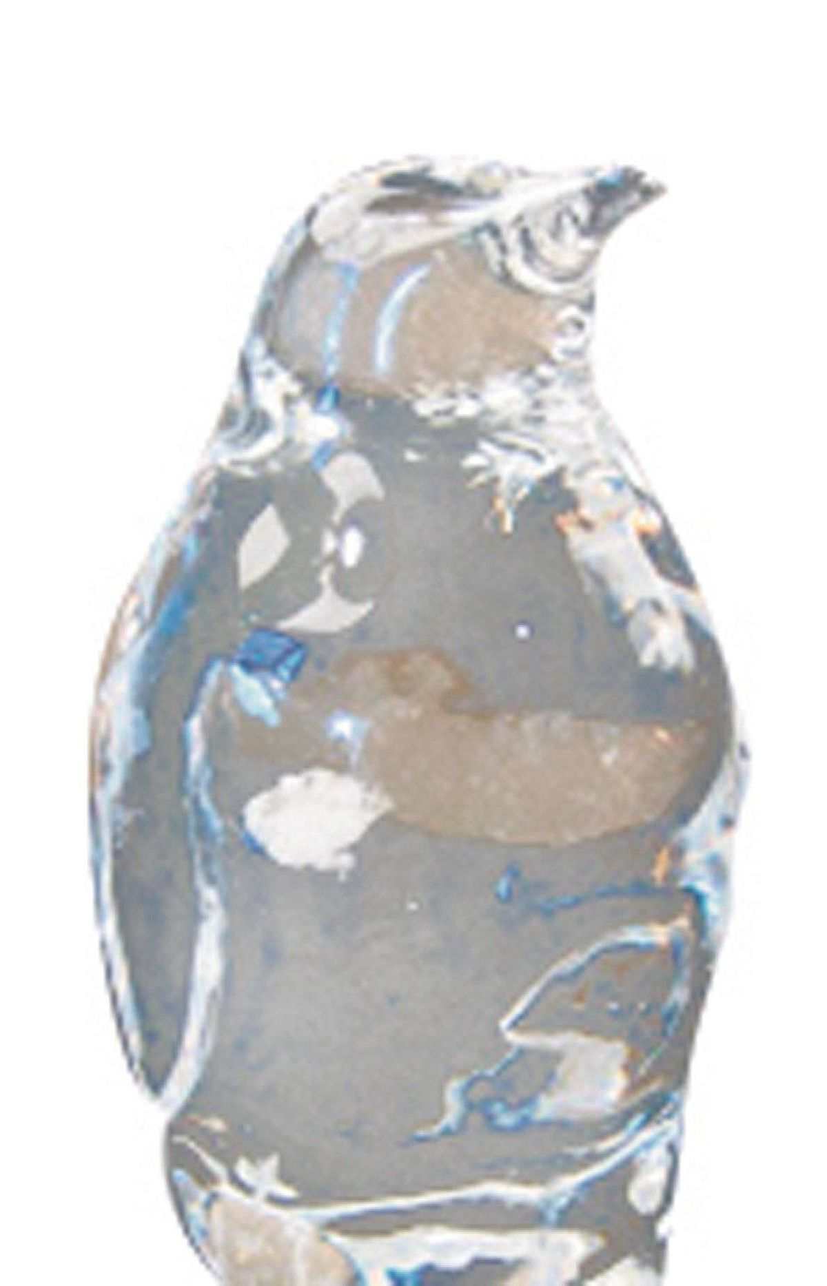 Robert Kuo crystal penguins, $1,550 each at studio b.