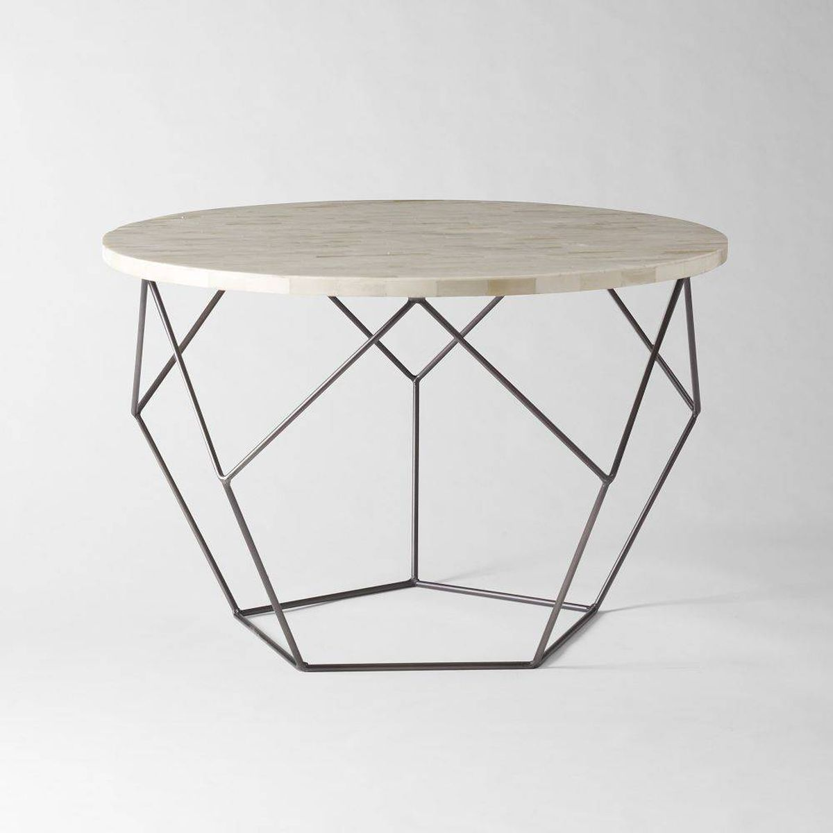 3pc Black Temper Glass Tops Metal Legs Coffee Table W: Get Wired With Geometric Side Tables