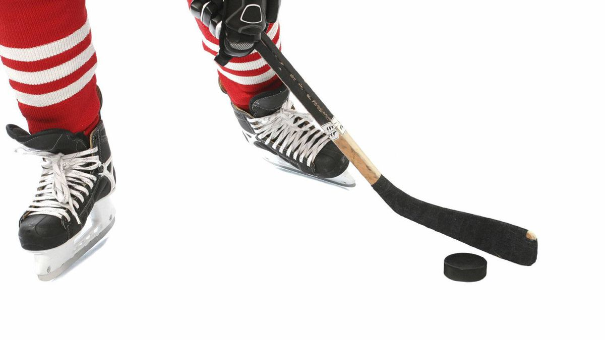 File photo of a hockey player