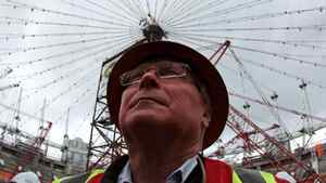 B.C Pavilion Corporation Chair David Podmore looks up at renovations continuing on the roof of B.C. Place Stadium in Vancouver, B.C., on Wednesday March 2, 2011.
