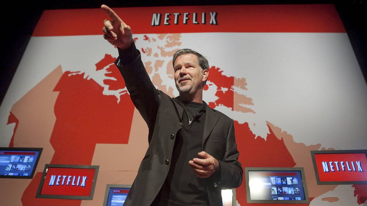 Netflix CEO Reed Hastings speaks in Toronto explaining the launch of Netflix in Canada on Sept. 22, 2010.
