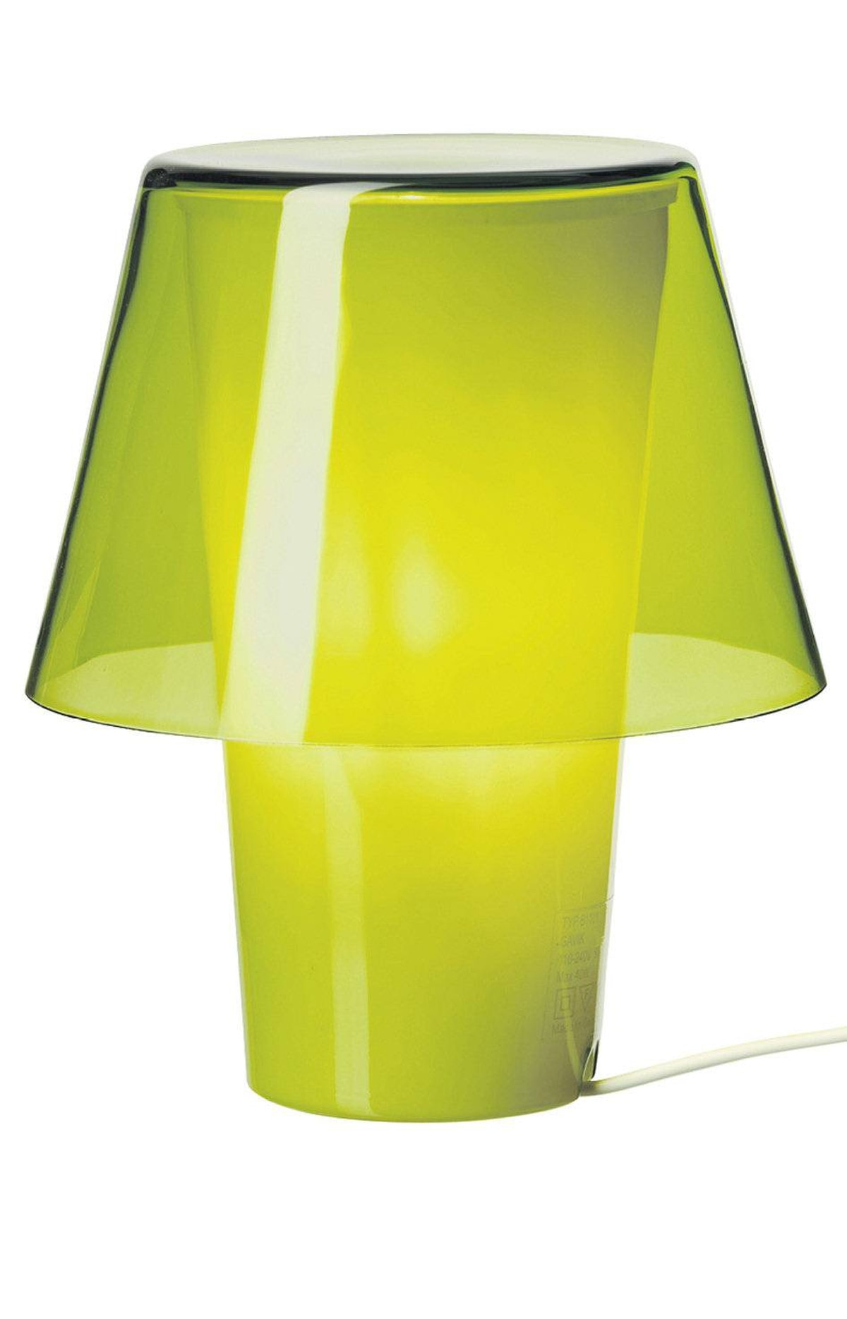 The base of this petite and colourful glass lamp folds over itself to create a charming integrated shade. Gavik table lamp in green, $15 at IKEA (www.ikea.ca).