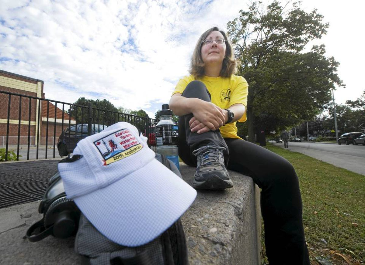 Kathryn Garrett, 44, has volunteered at the Scotiabank Toronto Waterfront Marathon and many other races put on by the Canadian Running Series for the past several years.