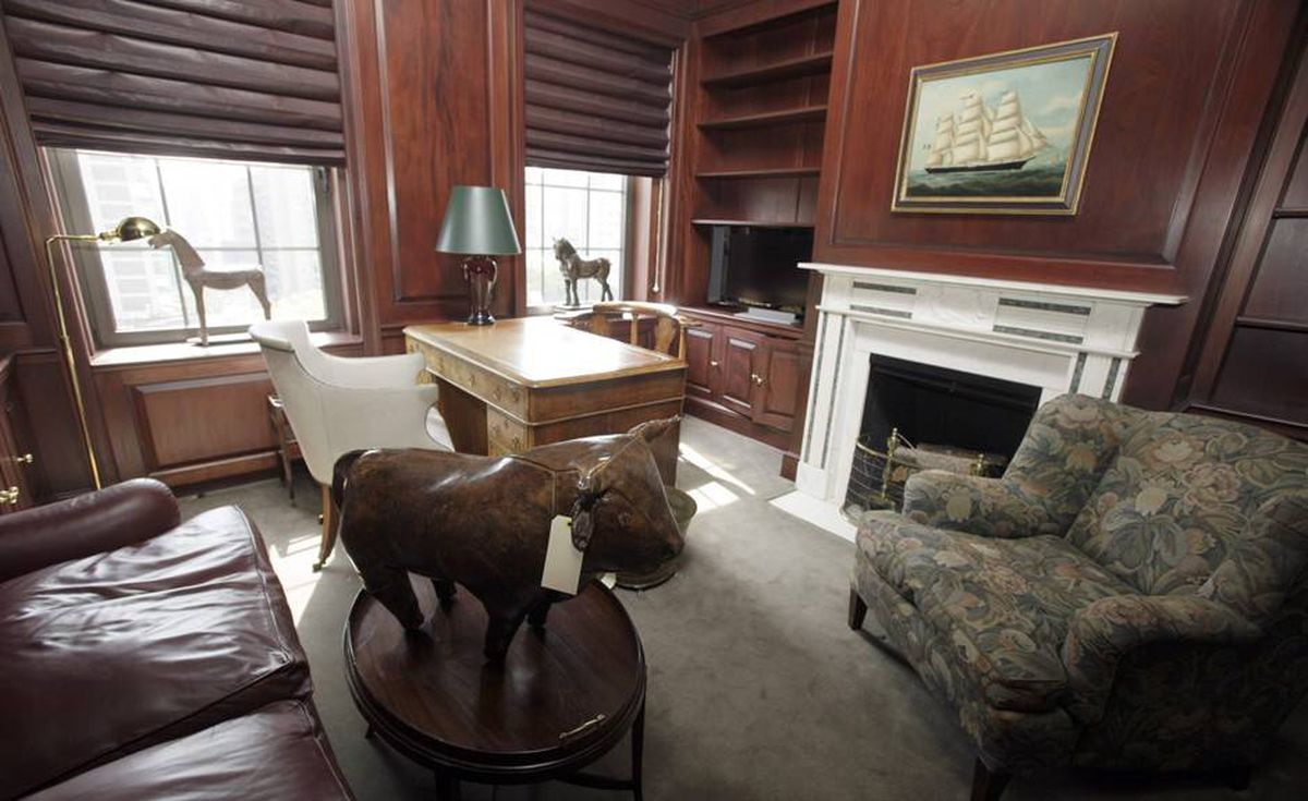 This photo taken Tuesday, Sept. 8, 2009 in New York shows Benard Madoff's office in Madoff's penthouse apartment on the Upper East Side of Manhattan.