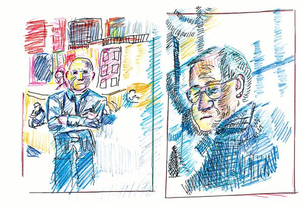 Portrait of Clem and Olivier Martini by Olivier Martini, excerpted from The Unravelling (Freehand, 2017)