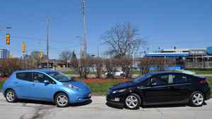 The Nissan Leaf and the Chevrolet Volt.
