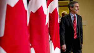 Liberal Leader Michael Ignatieff arrives for a news conference Sunday, April 24, 2011 in Toronto.
