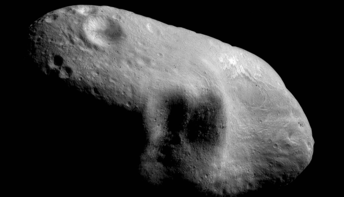 This March 3, 2000 image provided by NASA shows the near-Earth asteroid Eros from the NEAR spacecraft at a distance of 204 kilometers. A group of high-tech tycoons wants to mine nearby asteroids, hoping to turn science fiction into real profits.