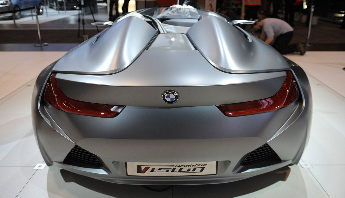 BMW Vision Connected Drive concept vehicle at the media preview of the Canadian International Auto Show in Toronto.