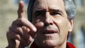 Canada's Liberal Leader Michael Ignatieff speaks on Parliament Hill in Ottawa March 26, 2011.