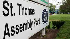 The Ford assembly plant in St. Thomas, Ont., is slated to shut down on Sept. 15.