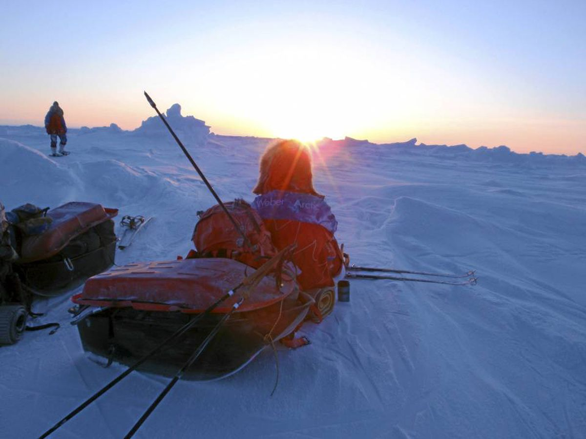 For 41 days Richard Weber's expedition ventured across ice to reach the Pole. Less extreme Arctic adventures are possible.