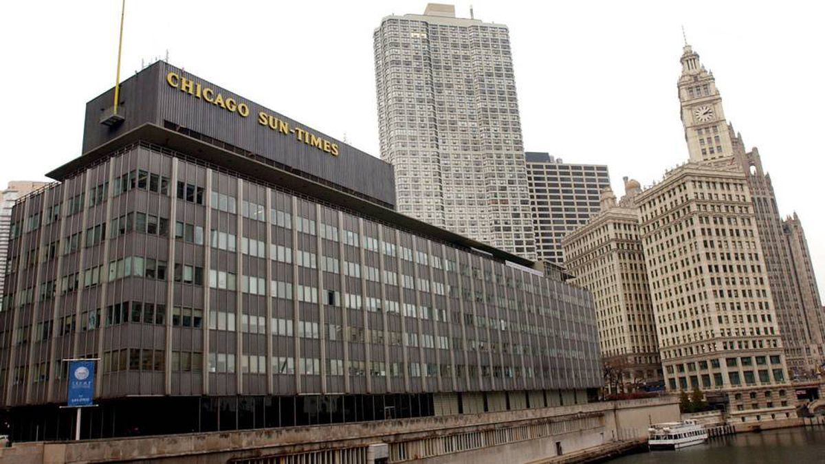 The Chicago Sun-Times building is photographed Monday, Nov. 17, 2003, along the Chicago River. Under heavy pressure from investors, Conrad Black will step down as chief executive of Hollinger International Inc., publisher of the Chicago Sun-Times, and the company will be put up for sale after an internal investigation found that fees had been improperly paid to Black and other senior executives. Hollinger also owns The Spectator magazine in Britain and a large number of community newspapers in the Chicago area.