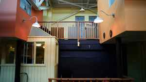 The residential units at Eva's Phoenix shelter. Eva's Phoenix is part of Eva's Initiatives, shelters for homeless and at-risk youth. The shelters provide residence .