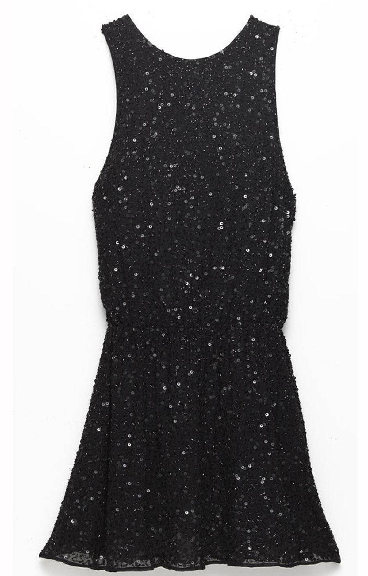Sequin dropped-waist dress by Alice + Olivia, $575 at The Bay (www.thebay.com)