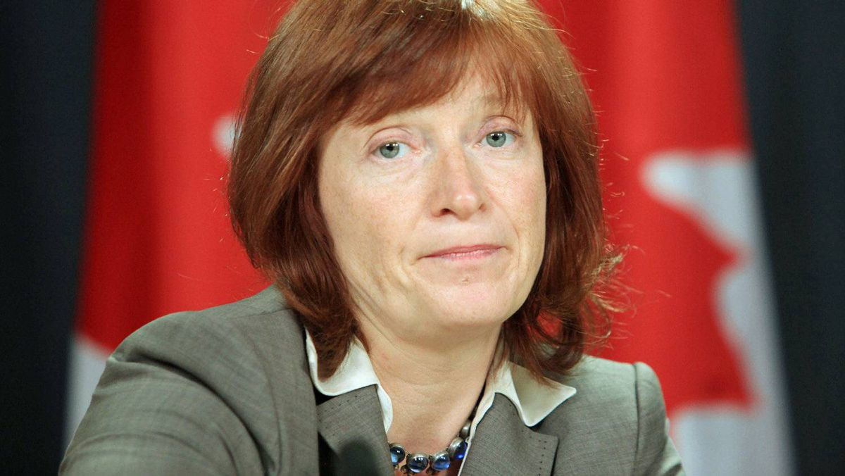Information Commissioner Suzanne Legault holds a news conference in Ottawa after a May 13, 2011.