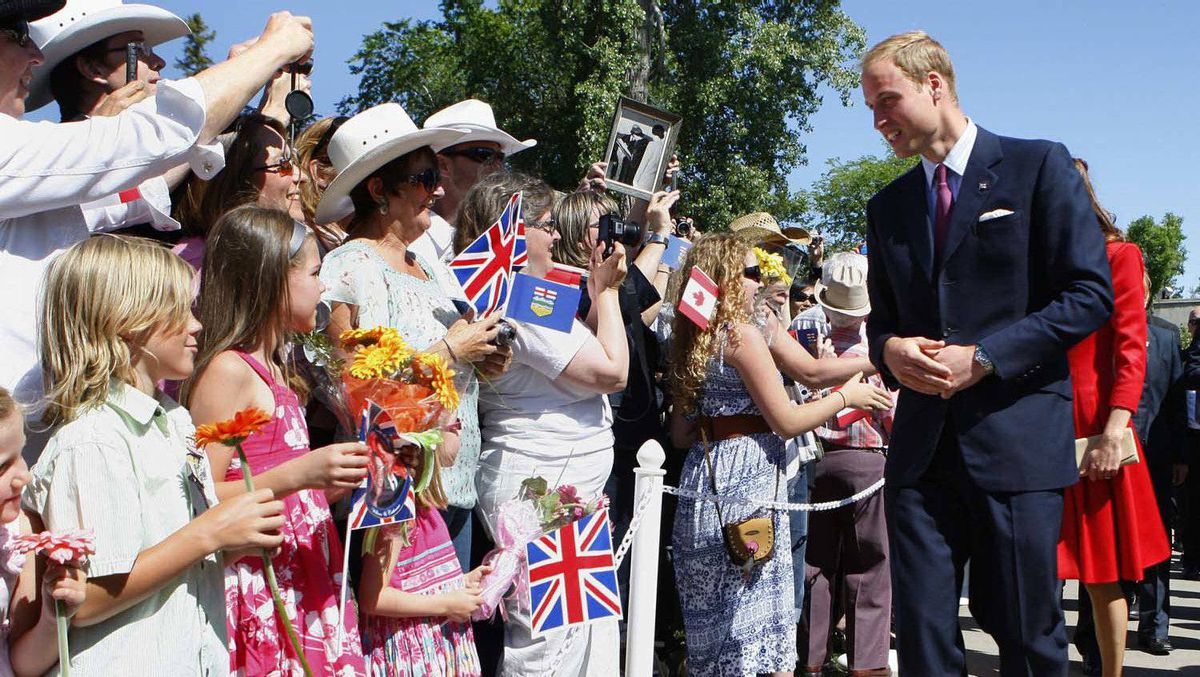 The Duke and Duchess of Cambridge arrives at the ENMAX Conservatory at the Calgary Zoo in Calgary, July 8, 2011.
