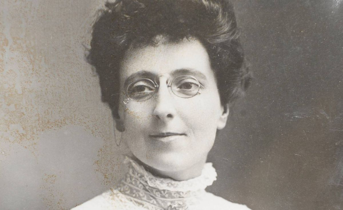 L.M. Montgomery in 1908, the year in which Anne of Green Gables was published. Lucy was 34 years old in this photo.
