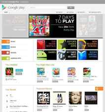 This screen shot provided by Google Inc., shows the Google Play website. Google is scrapping the Android Market name and rebranding it as the Google Play Store. The company is unifying its content into a more seemless experience.