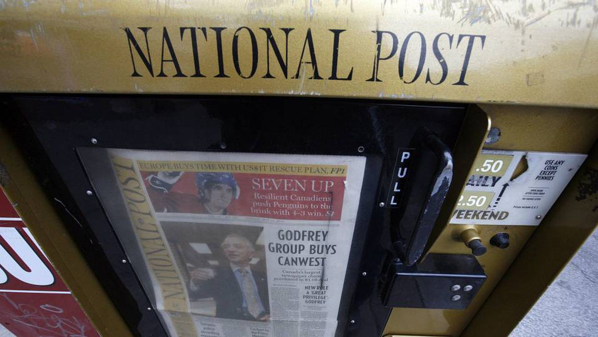 Conrad Black launched the National Post in 1998 after buying The Financial Post from Sun Media Corp and merging the two into one national paper.
