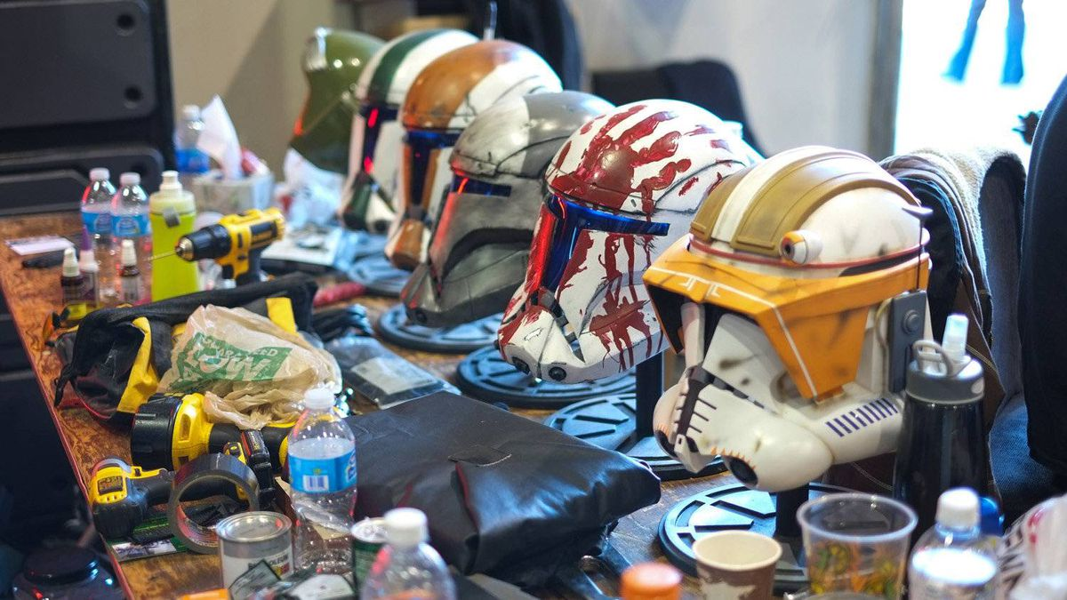 Thorsson has brought numerous video game and movie creations to life, including characters from Warhammer 40,000, Dead Space, Mass Effect and the Republic Commando helmets from the Star Wars franchise pictured here.