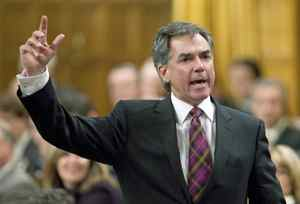 Minister of the Environment Jim Prentice speaks during Question Period in the House of Commons on on Thursday, November 19, 2009.