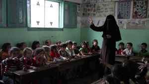 The kindergarten classroom of a Hamas school in Gaza City.