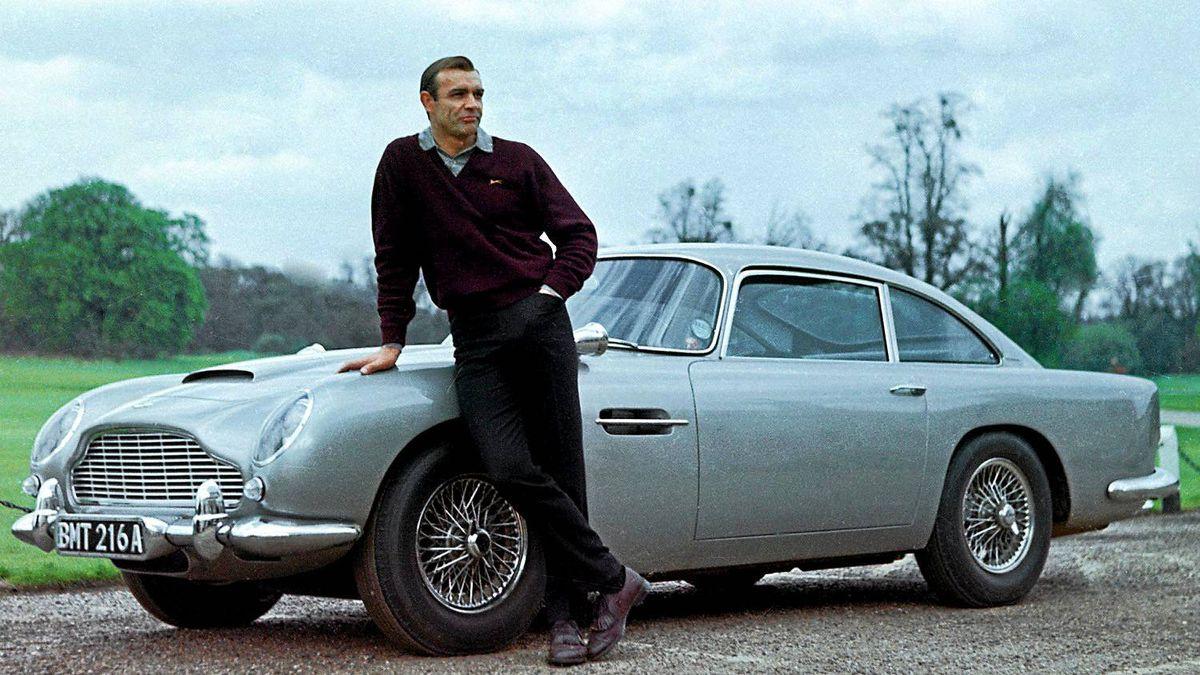 Sean Connery, as James Bond in 1964's Goldfinger, drove an Aston Martin.
