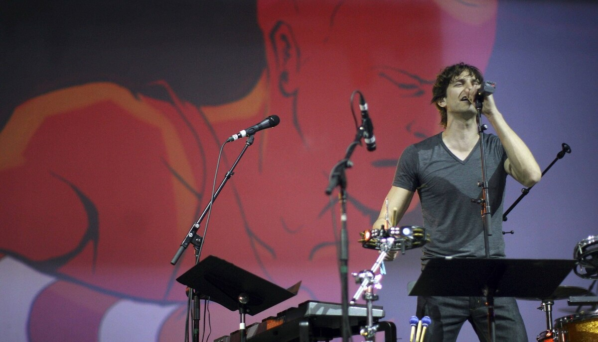 Gotye performs at the 2012 Coachella Valley Music and Arts Festival in Indio, California.