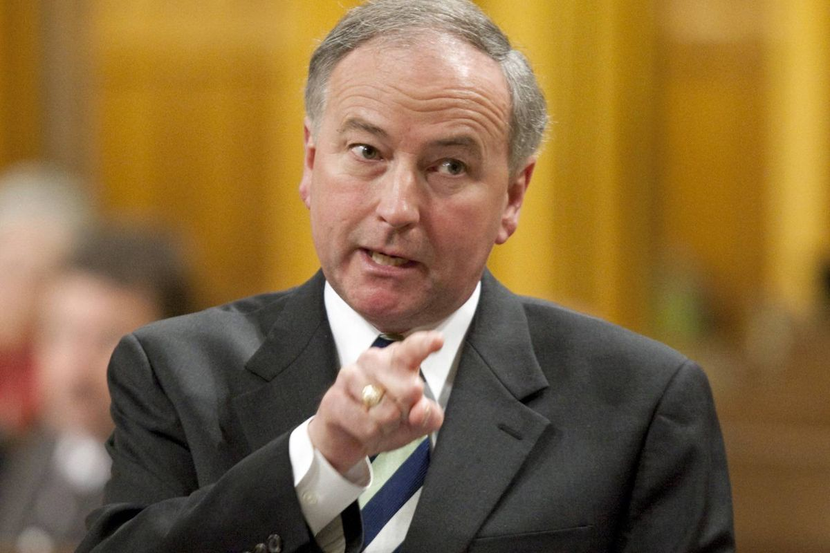 Conservative Justice Minister Rob Nicholson speaks during Question Period in the House of Commons on Parliament Hill in Ottawa June 8, 2009.