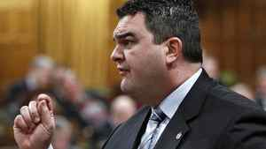 Conservative MP Dean Del Mastro speaks during Question Period in the House of Commons on Feb. 29, 2012.