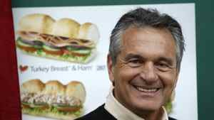 Subway founder Fred DeLuca poses in a Subway branch in central London January 26, 2012. U.S. sandwich chain Subway plans to open 600 new branches in Britain and Ireland over the next three years creating 6000 jobs.